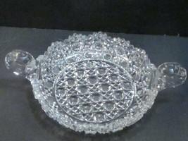American Brilliant Period hand Cut Glass Harvard 2 handled dish - $102.50