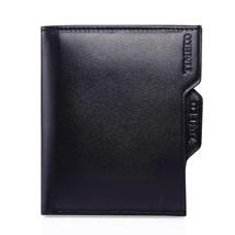 Time100 Mens Genuine Leather Front Pocket Wallet Slim Wallet Money Clip RFID Blo - $24.54