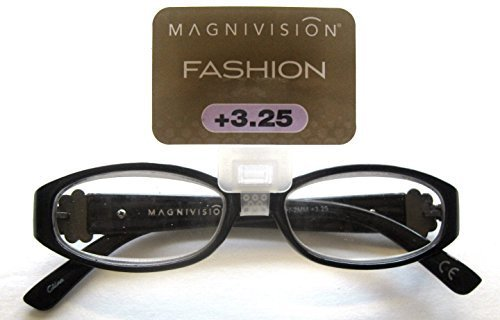 "Primary image for Foster Grant Magnivision ""ISLA"" Women's Black Oval Reading Glasses +3.25"