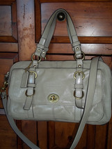 Coach Chelsea Legacy Tan Patent Leather Satchel Bag 14030 - $94.04