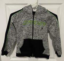 Spyder Fleece Zip Up Hoodie Boys 6 Gray Green - $17.81