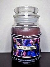 Yankee Candle Black Band Label Country Heather 22 oz Jar-Retired-New - $49.99