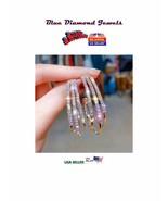 CHEAP BIG Hoop Earrings  14k  Rose GP & CZ Hoops Super Blingy Bling USA ... - $13.95