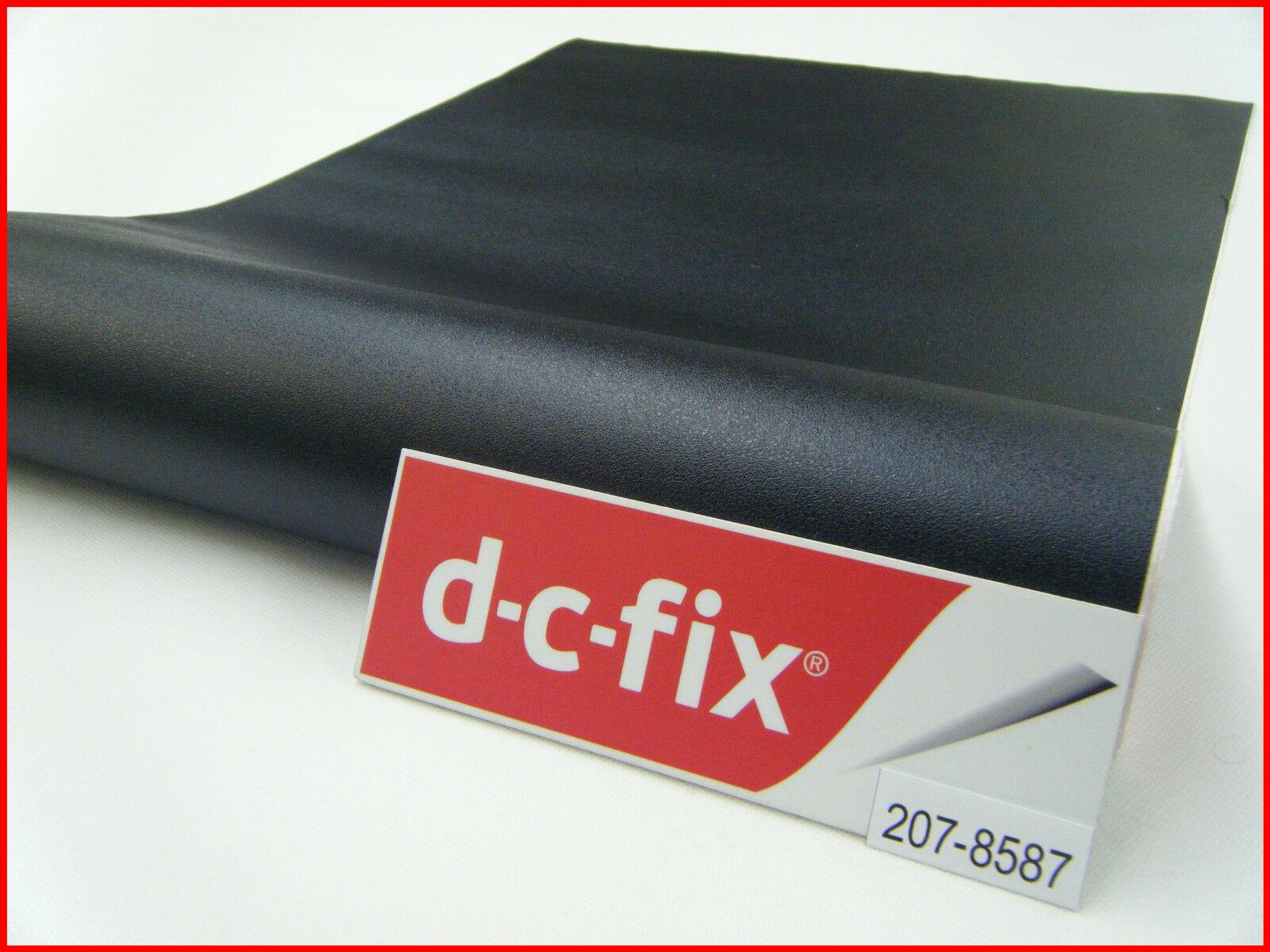 DC Fix Black Textured Semi Matt Self Adhesive Vinyl 17.7'' x 39.3'' 207-8587 - $10.25