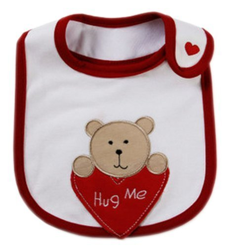 Waterproof Baby Burp Cloths Infant Nest Solutions Bib HeartBear Set of 3