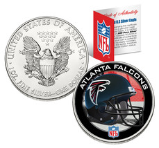 ATLANTA FALCONS 1 Oz American Silver Eagle $1 US Coin Colorized NFL LICE... - $49.45