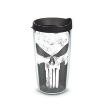 Punisher Wrap With Travel Lid 16 oz Tervis Tumbler  - $26.98