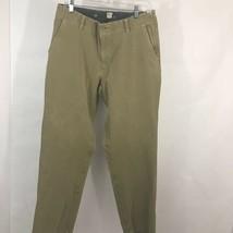 Dockers Mens Kahki Pants Beige Straight Fit Stretch Pockets Flat Front 3... - $9.89