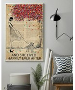 Live Happily Vintage Dictionary Tree Schnoodle, Art Print Poster For Hom... - $25.59+