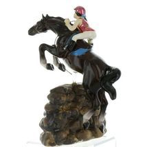 Hagen Renaker Specialty Horse Jumping with Rider Ceramic Figurine image 3