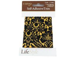 Conso Self-Adhesive Trim, Damask Print, 2 Yards