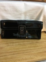 COLE HAAN Black Patent Leather Over-Sized Envelope Clutch Handbag - $816,09 MXN