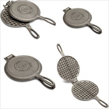 Waffle Maker Cast Iron Pan Old Fashioned Waffle Iron for Camping Outdoor... - ₨2,146.63 INR
