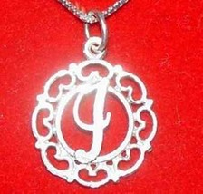 LOOK New Sterling Silver .925 Pendant Charm Initial alphabet Letter I El... - $17.06
