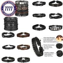 Fibo Steel 12 Pcs Braided Leather Bracelets For Men Women Cuff Bracelet,... - $16.45