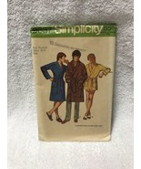 Simplicity 9637 Mens Robe In 2 Lengths Vintage Sewing Pattern - $11.87