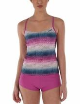 Bench UK Womens Mauve Pink Striped Paperweave 2 Piece Tankika Tankini Swim Wear