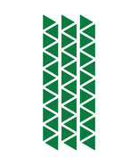 LiteMark Reflective Green 1 Inch Triangle Decals - Pack of 42 - $10.95