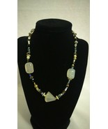 Vintage BOHO bead stone look necklace  - $22.28