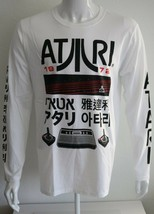 Atari Mens Graphic Tee White 100% Cotton T-Shirt Size L XL - $29.75