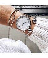 3 pcs/set Bohemia Vintage Bangle Silver Knot Ball Open Silver Bracelet f... - $8.84