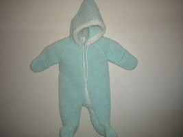 Vintage 80's ST Designs Baby Size 0-6 Months Light Blue Full Zip Winte B... - $19.80