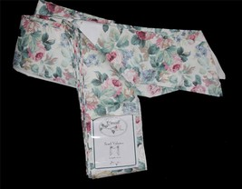 """Croscill Vtg CHARTWELL Cottage Chic Floral Roses Scarf Valance  43""""W x 1... - $49.99"""