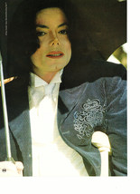 Michael Jackson teen magazine pinup clipping umbrella crutches Tiger Beat