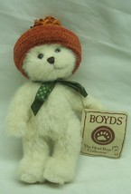 "Boyds Hats & Such Series Ginger Mcpunkin Teddy Bear 6"" Plush Stuffed Animal New - $16.34"