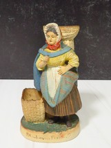 Antiq Painted Bisque Newhaven Fishwife Scotland Figurine Match Tooth Pic... - $71.28