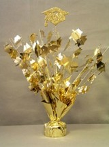 "2 pieces Gold Graduation Centerpiece 14"" tall with foam graduation hat - €7,90 EUR"