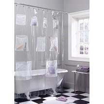 Maytex Quick Dry Mesh Pockets Waterproof PEVA Shower Curtain or Liner, B... - $13.70