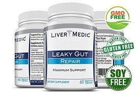 Leaky Gut Repair Supplements by Liver Medic | Best Gut Healing Support. Heartbur