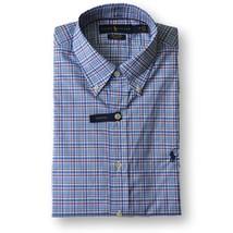 Polo Ralph Lauren Mens 100% Cotton Stretch Oxford Button Down Shirt Blue red - $69.95