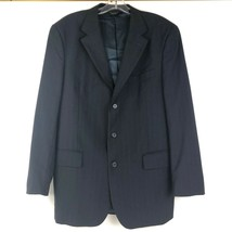 Before Virus Jos. A. Banks Mens Blazer Wool 3 Button Stripped Navy Size 42R - $29.92