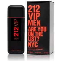 212 VIP MEN by Carolina Herrera 3.4 Oz 100 ml Eau De Toilette Spray NEW ... - $52.25