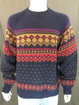 Vintage Tommy Hilfiger Wool Cotton Blend Knit Crewneck Winter Sweater Si... - $24.96