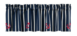 maritime navy nautical seaside Anchor rope blue red white stripe VALANCE... - $31.95