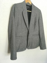 Gray Anne Klein Suit Sz 6P 2-Button Blazer with Lower Front Zipped Pockets  - $24.75