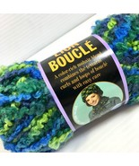 Lion Brand Lion Boucle Yarn Mohair Blend Lime Blue 2.5oz/70g 57yds / 52m... - $95,20 MXN