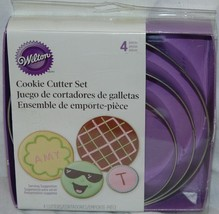 Wilton 4 pc Round Cookie Cutter Set Circle Nesting New - $14.31