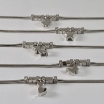 Silver 925 Bracelet Jack&co with Star Dog Butterfly Clover or Cat image 2