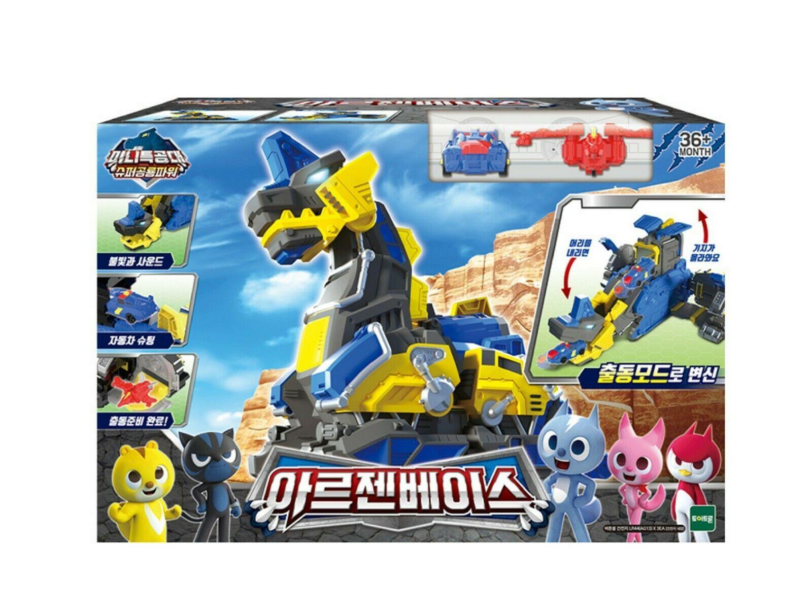 Miniforce Argen Base Super Dinosaur Power Transformation Toy Action Figure