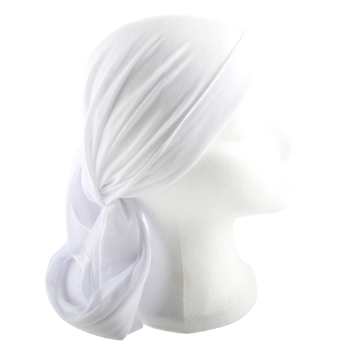 Head Scarf Modest Hair Cover Wrap White Fabric Judaica Women Tichel