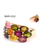 Multicolor Tourmaline Ring in 14 K Rose Gold RRP $2,080 - $615.00