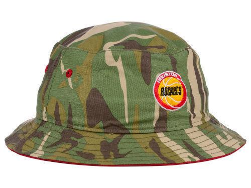 HOUSTON ROCKETS '47 NBA HWC Woodrow Bucket WOODLAND CAMO HAT CAP S M THROWBACK