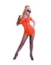 Femmes Orange Princesse en Prison Sexy Costume Adulte Ensemble Taille L ... - $14.85