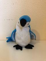 Beanie Baby Rocket Blue Jay Bird 5th Gen Swing Gasport 6th Tush Stamp TY 1998 - $4.55