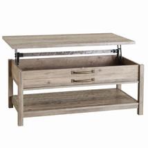 Lift-Top Coffee Table Modern Farmhouse Rustic Gray Decor Modern Living R... - $174.66