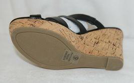 City Classified Layka S Black Sandal Wedge Heel Size Six image 6